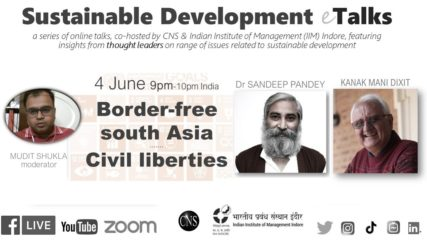 Border-free south Asia | #SDGtalks | Dr Sandeep Pandey & Kanak Mani Dixit