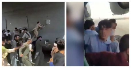 Kabul airport videos raise troubling question: Why did US crew take off with men clinging to plane?